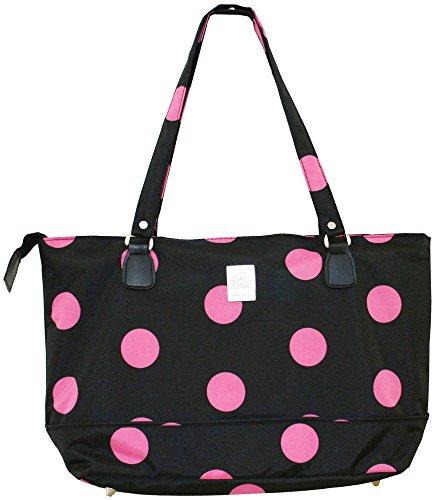 jenni-chan-dots-computer-tote-black-pink-one-size