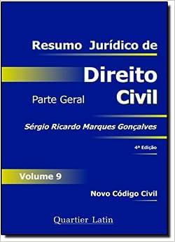 Book Resumo Jurídico de Direito Civil. Parte Geral - Volume 9