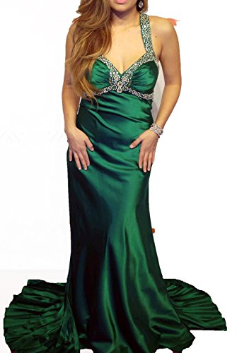 Jasz Couture Charmeuse Low Back Beaded Formal Gown Sizes 6-14 (6, Emerald)