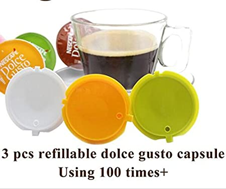 3pcs/pack, rellenable, Dolce Gusto Nescafe Dolce Gusto de ...