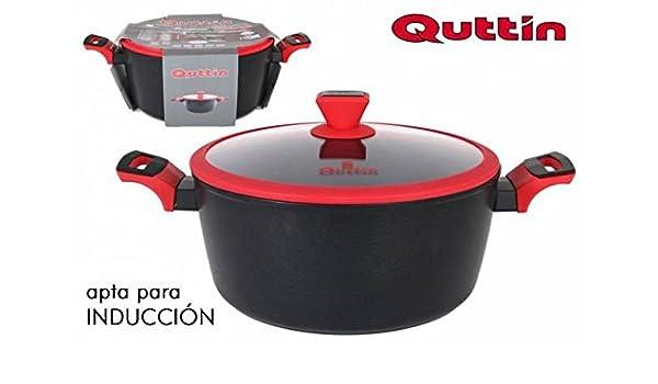 Quttin Cacerola 28 cm con Tapa Insignia: Amazon.es: Hogar