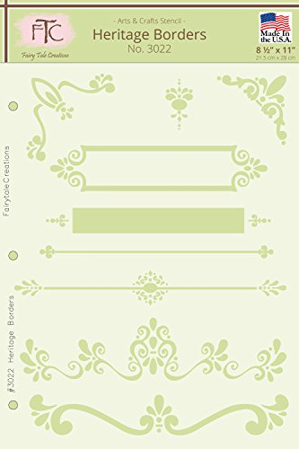 (Fairytale Creations Heritage Borders Stencil, 8-1/2