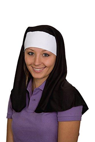 Jacobson Hat Company Women's Nun Hat, Black, (Nun Costume Accessories)