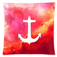 Fantasy Fire Anchor Pillowcase Zippered Pillow Case 16x16 Standard Size(Twin sides)