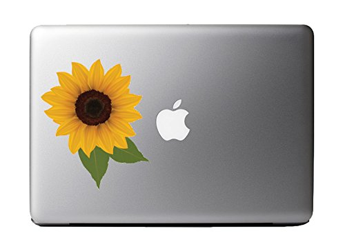 """Colorful Super Sunflower - Vinyl Decal for 13"""" Macbook"""