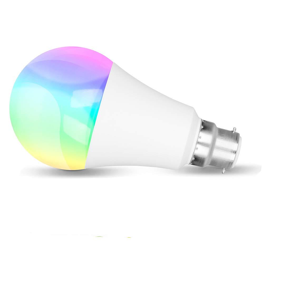 Alexa lampe glü hbirne, Smart wifi led lampe, E27 Birne RGBW Glü hbirne Kompatibel Mit  Alexa und Google Home, Dimmbare, 60W ä quivalent,bis zu 16 Millionen Farben, Steuerbar via App, 7W GresatekEU