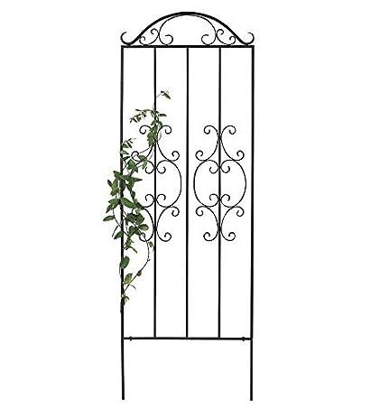 Plow U0026 Hearth 50690 Montebello Iron Metal Tall Scroll Outdoor Garden Trellis,  32u0026quot; X