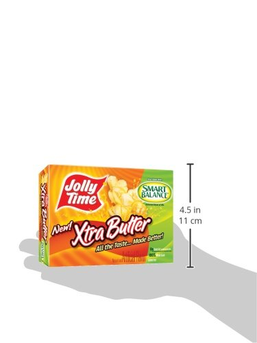 Jolly Time Xtra Butter Microwave Popcorn Trans Fat Free
