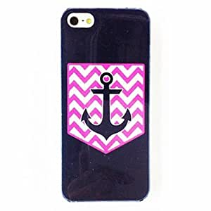 GJYPunk Colorful Waves Stripe Anchor Pattern TPU Soft Case for iPhone 5/5S , Multicolor
