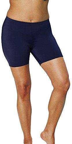 bdb0baf1a8970 Aquabelle Women s Plus Size Chlorine Resistant Bike Short 20 Blue