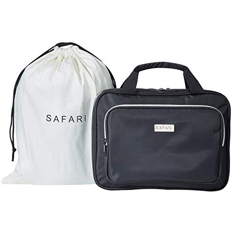 Large Hanging Travel Toiletry Cosmetic Bag for Men and Women by SAFARI (Black)- Durable Waterproof Organizer with Clear Compartments and Detatchable Pouch - The Perfect Gift