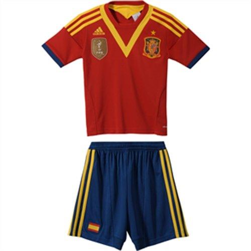 Adidas Selección Española de Fútbol - Conjunto camiseta, pantalón y calcetines de fútbol infantil, talla 104 cm, color rojo/azul: Amazon.es: Deportes y aire ...