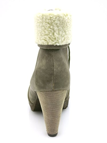 Short Boot Lace Boots Winter Taupe Shoes Taupe 1911 Buffalo Boots Up Ladies' nXg48anq