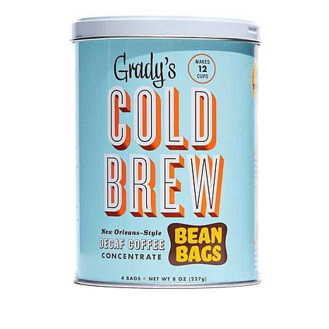 Grady's Cold Brew Decaf Concentrate Bean Bags 4 Ct (Pack of 2)