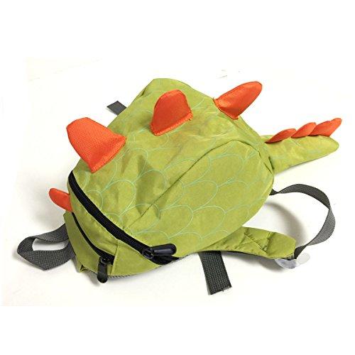 Bowbear Toddler Kids Preschool Dinosaur Backpack, Green