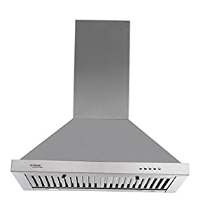 Hindware 60cm 1000 m3/hr Chimney (Blaze SS 60, 2 Baffle Filters, Steel/Grey)
