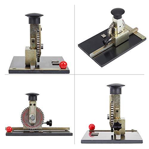 VEVOR Sheet Embosser Manual Deboss Metal Embosser Machine Dog Tag Specific Model Date Serial Number Stamping Embossing Marking Machine with 4MM Print Wheel by VEVOR (Image #5)