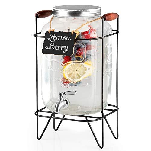 glass 2gallon beverage dispenser - 3