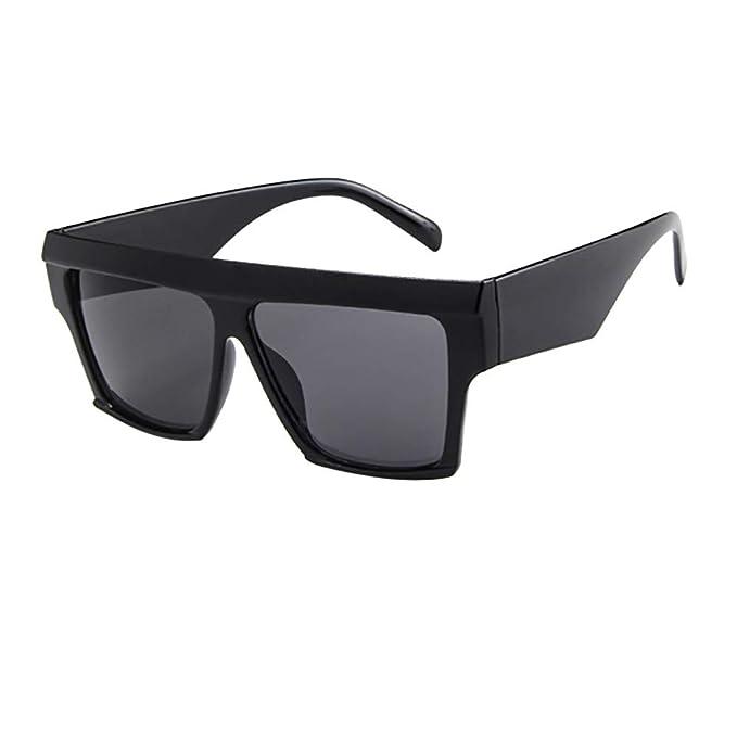 Gafas de Sol,KanLin1986 Gafas de Sol Unisex Polarizadas Gafas de Sol de Mujer y Hombre Cuadrada Oversize Gafas de Sol Aviador Espejo