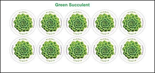 2017 USPS Global Green Succulent International Forever Stamps Sheet of - Postage Us Mail Air Stamps