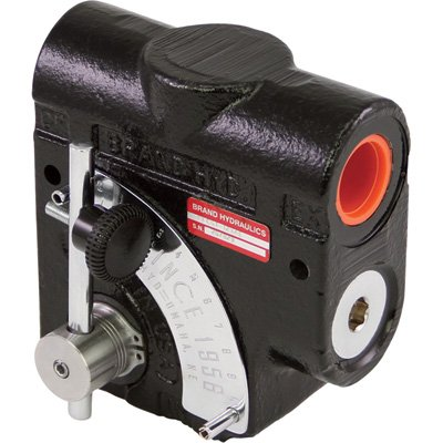 Brand Hydraulics Side-Ported Adjustable Flow Control Valve - 1/2in. NPT ports, 0-16 GPM, Relief Valve, Model# PFCR51-1/2 by Brand Hydraulics