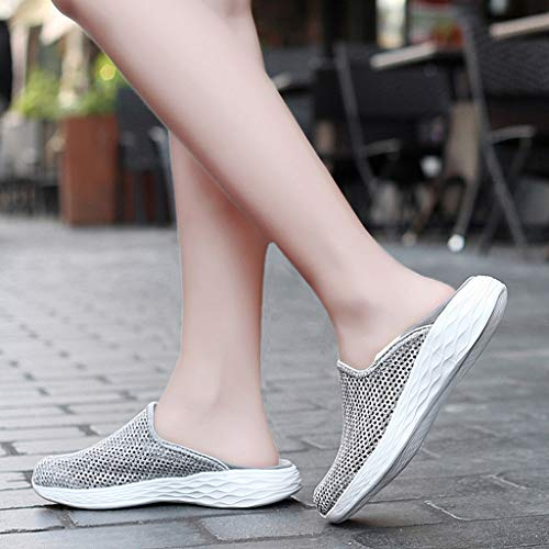 Women Donna Outdoor Scarpe Ihengh Moda Donne 2019 Sport up Estate Grigio Lace Running Respirante Sneakers Breathable Shoes Casual Da Scarpa Pu Ginnastica t0qnw0aP7