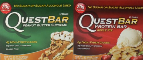 Quest Nutrition - Apple Pie and (12 Bars) & Peanut Butter Supreme (12 Bars)