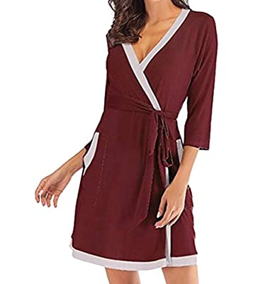 WSPLYSPJY Womens Vintage Nightgown Sleepwear Long Sleeve Pajama Nightdress Robe