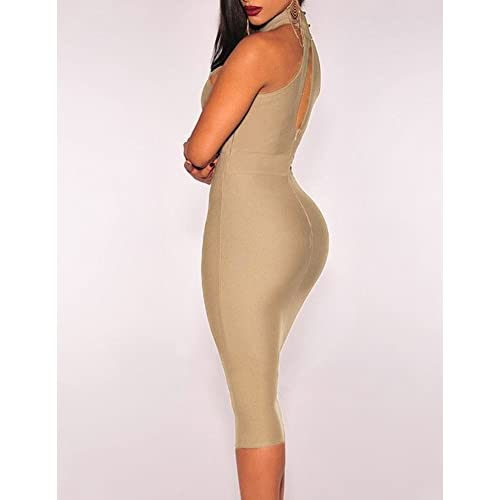 Cfanny sexy cut-out bandage bodycon midi dress