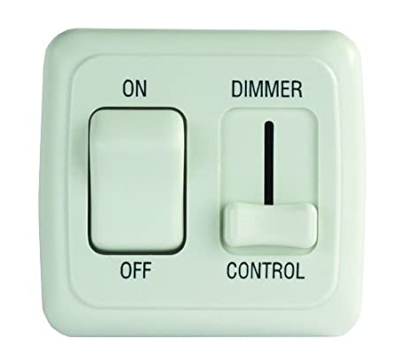 JR Products 12275 Black Dimmer On//Off Switch with Bezel