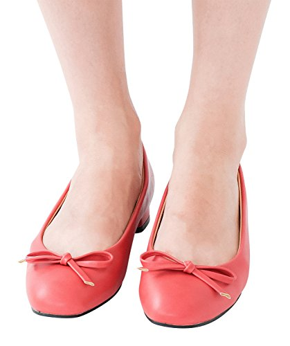 AnnaKastle Womens Vegan Leather Classic Low Heel Pumps with Bow Daily Shoes lOmVdAFfMg