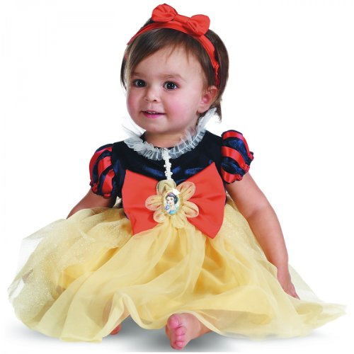 For Costumes Infant White Snow (Disguise My First Disney Snow White Costume, Red/Blue/Yellow, 6-12)