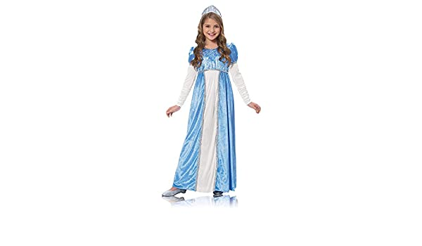 Girls Toddler White Princess Dress Costume Queen Fairytale Silver Cinderella 4yr