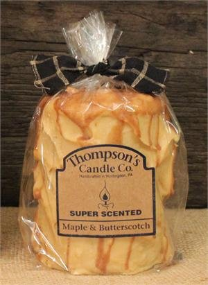 Thompson's Candle Co Maple & Butterscotch Pillar Candles -