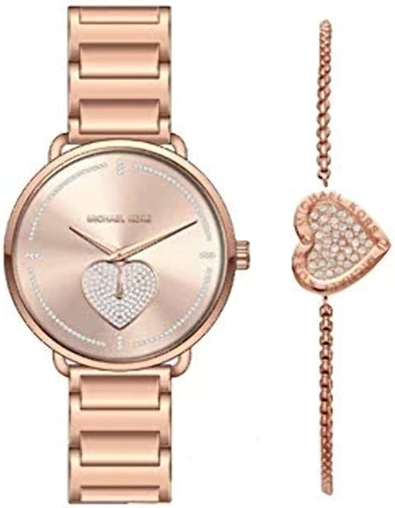 Michael Kors Women's Portia Three-Hand Rose Gold-Tone Stainless Steel Watch MK4468
