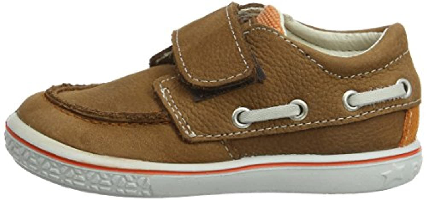 Ricosta Cilbin M 61, Boys' Boat Shoes, Curry, 5 UK Child
