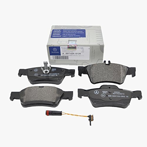 Mercedes Rear Brake Pads Pad Set Genuine OE 0071020 + Sensor 21117 VIN#REQUIRED (01 Rear Oe Oem Brake)