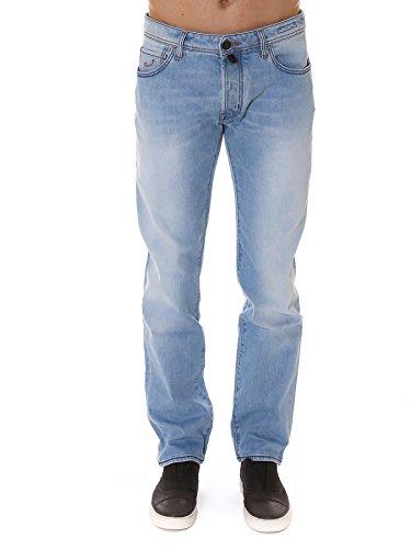 Jacob Cohen Homme PW688540003 Bleu Claire Coton Jeans
