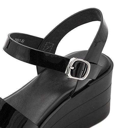 Dhg Alti Pantofole Piatti Da Sandali nero Moda Basso 39 Casual Estivi Donna A Con Alla Tacco Basso Tacchi 44fqU1