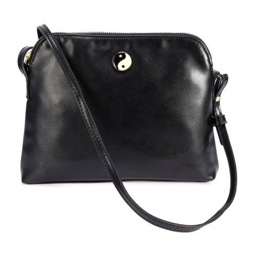 The Pecan Man Black Crossbody Handbag Tote Woman Satchel Shoulder ()