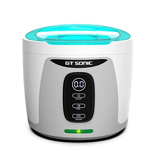 GTSONIC Ultrasonic Cleaner Jewelry Glasses Dentures Professional Detachable Cleaning Machine, 4 Timer Cycles Auto-Off, 26 OZ, 35 W ()