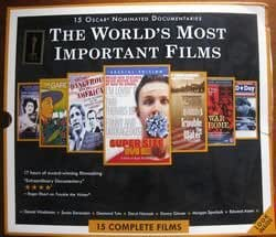 The World's Most Important Films Box Set, 15 Oscar Nominated Documentaries (Super Size Me, Most Dangerous Man in America, Trouble The Water, Burma VJ, The Garden, Speaking In Strings, D-Day Remembered, Smile Pinki and more)