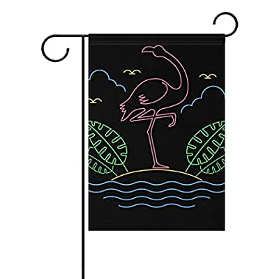 FAJRO Flamingo Yard Flags Garden Flag for Garden and Home Decorations Double Sided