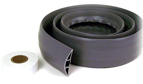 Belkin Cord Concealer with Double-Sided Adhesive Tape (Gray, 6 Feet) (Extension Cord Hider)