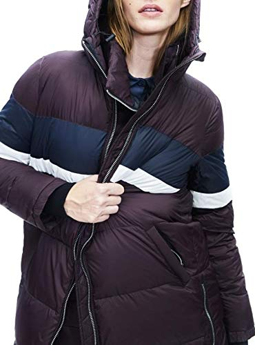 Morado Acolchado Abrigo Mujer Ecoalf Burdeos Maier X1Hwq5