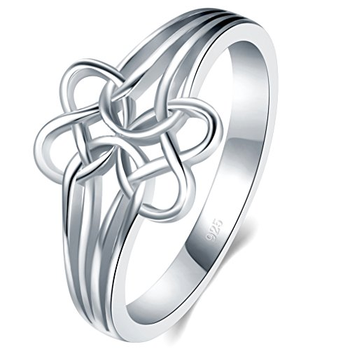 Heart Knot Wedding Band Ring - 7