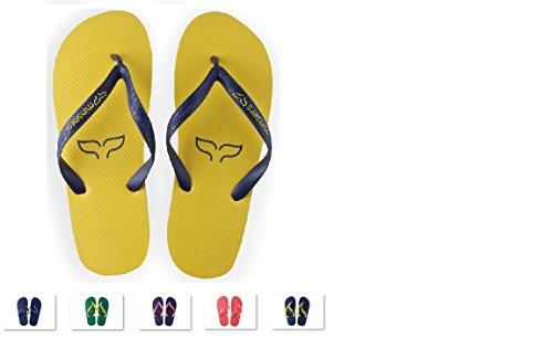 Hombre blue Mujer Y Para Diseño Piscina Playa Yellow Atractivo Unisex Chanclas fx70HTw