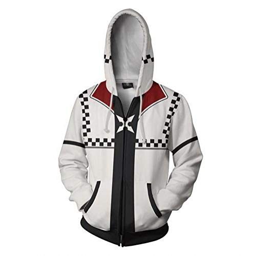 Mikucos Kingdom Hearts Jacket Coat Hooded Hoodie Swater Costume Cosplay Roxas -