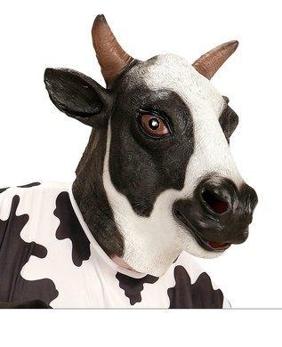 Máscara cabeza completa Vaca, Negro, ONE SIZE