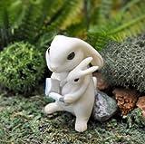 Bunny Reading To Baby Fairy Garden 17451